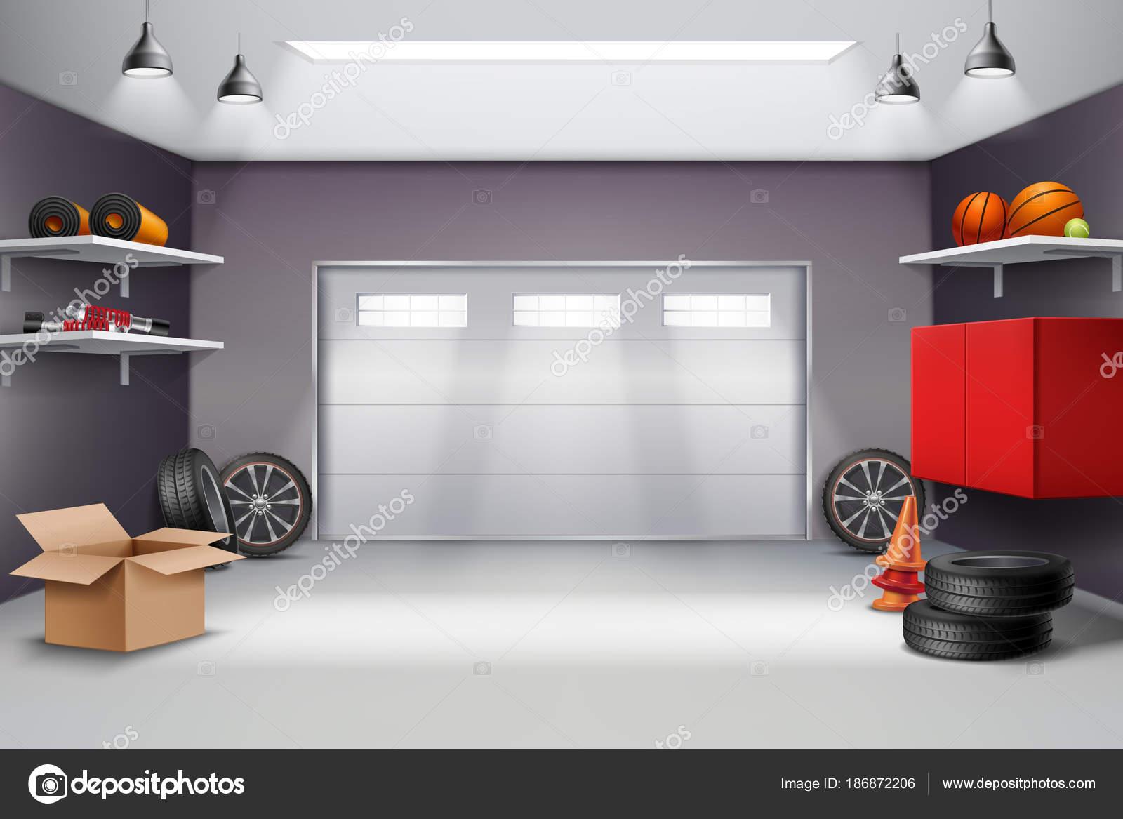 Garage Intérieur Composition Réaliste