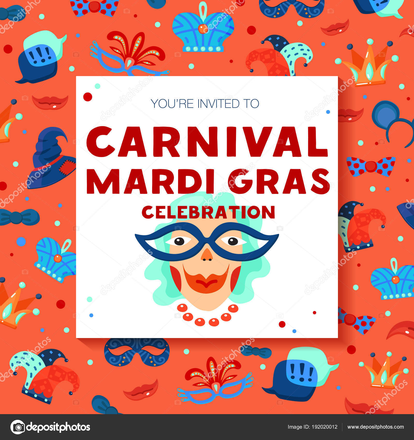 Carnival Decorative Frame Background Poster — Stock Vector ...