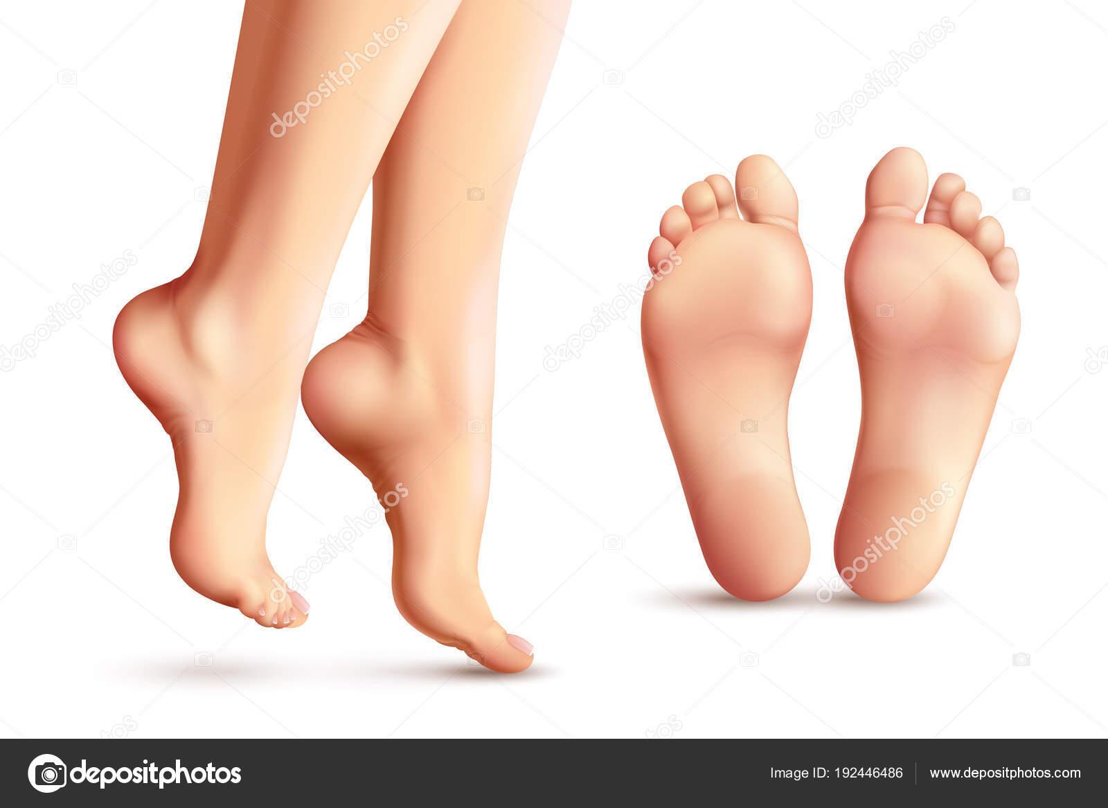 Weibliche Fußsohlen
