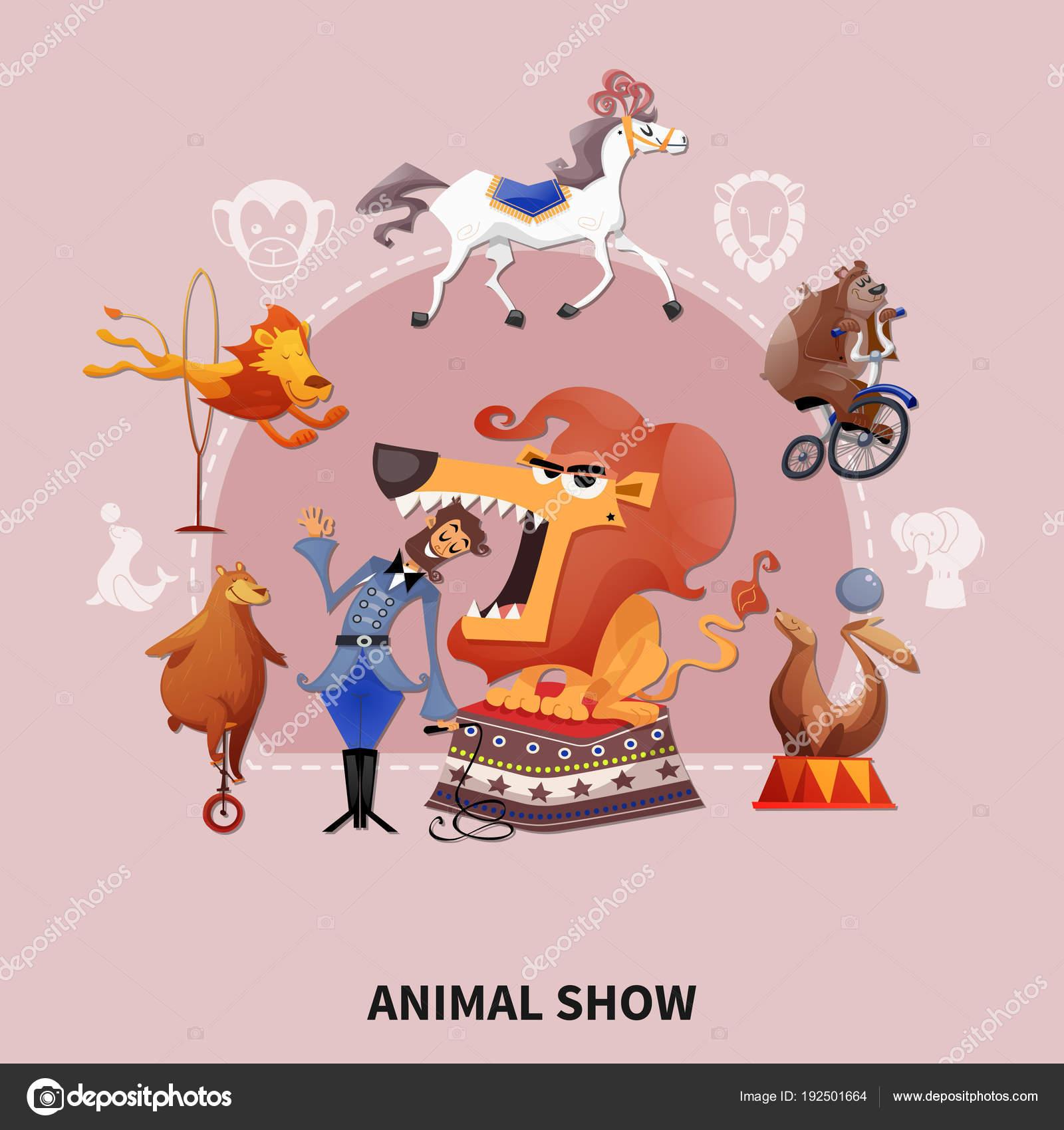 цирк мультфильм состав векторное изображение Macrovector