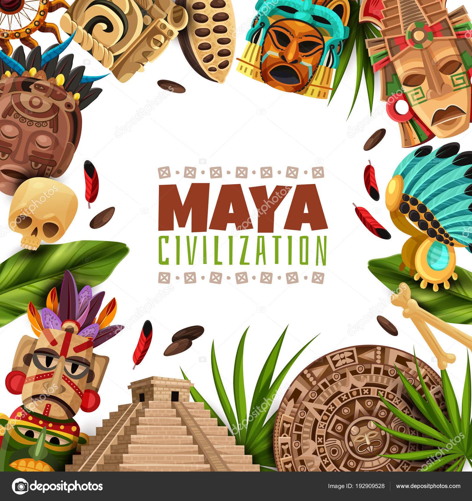 Calendrier Maya Dessin.La Civilisation Maya Dessin Anime Image Image Vectorielle