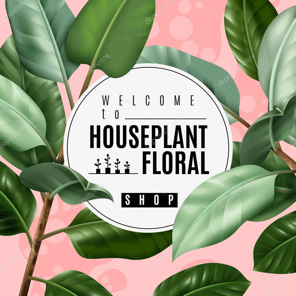 Realistic House Plant Poster