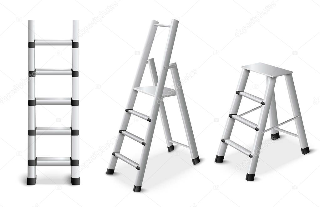 Metal Ladders Realistic Set