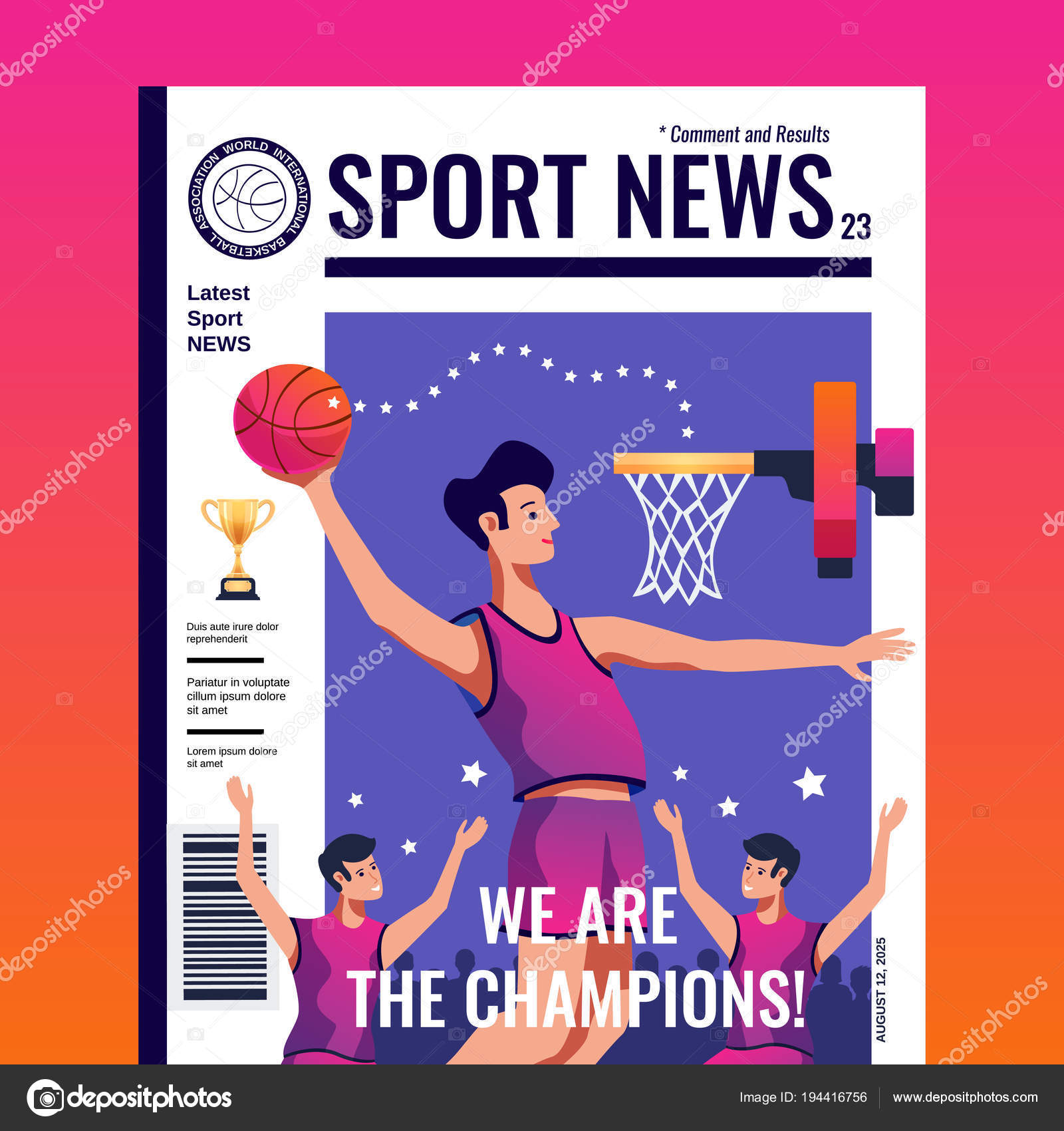 Couverture de Magazine Sport News — Image vectorielle macrovector ...
