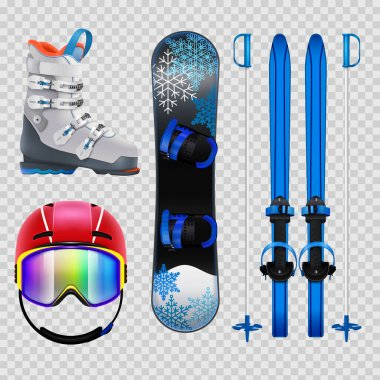 Ski And Snowboard Equipment Set