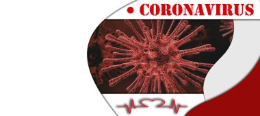 Coronavirus alert leaflet or banner with blank space for your text