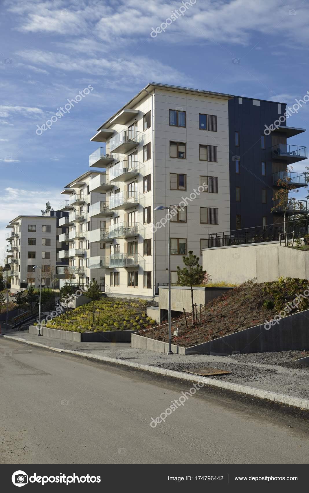 Beeindruckend Moderne Mehrfamilienhäuser Galerie Von Sind Mehrfamilienhäuser Stockholm Schweden — Stockfoto