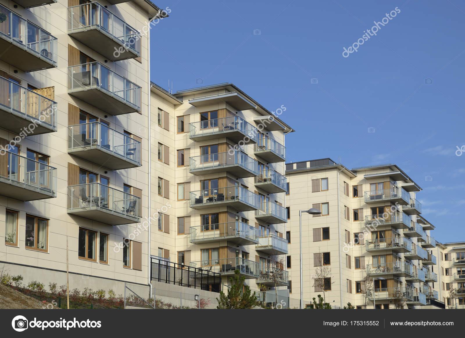 Costruzioni appartamento moderne nella zona stoccolma svezia u2014 foto