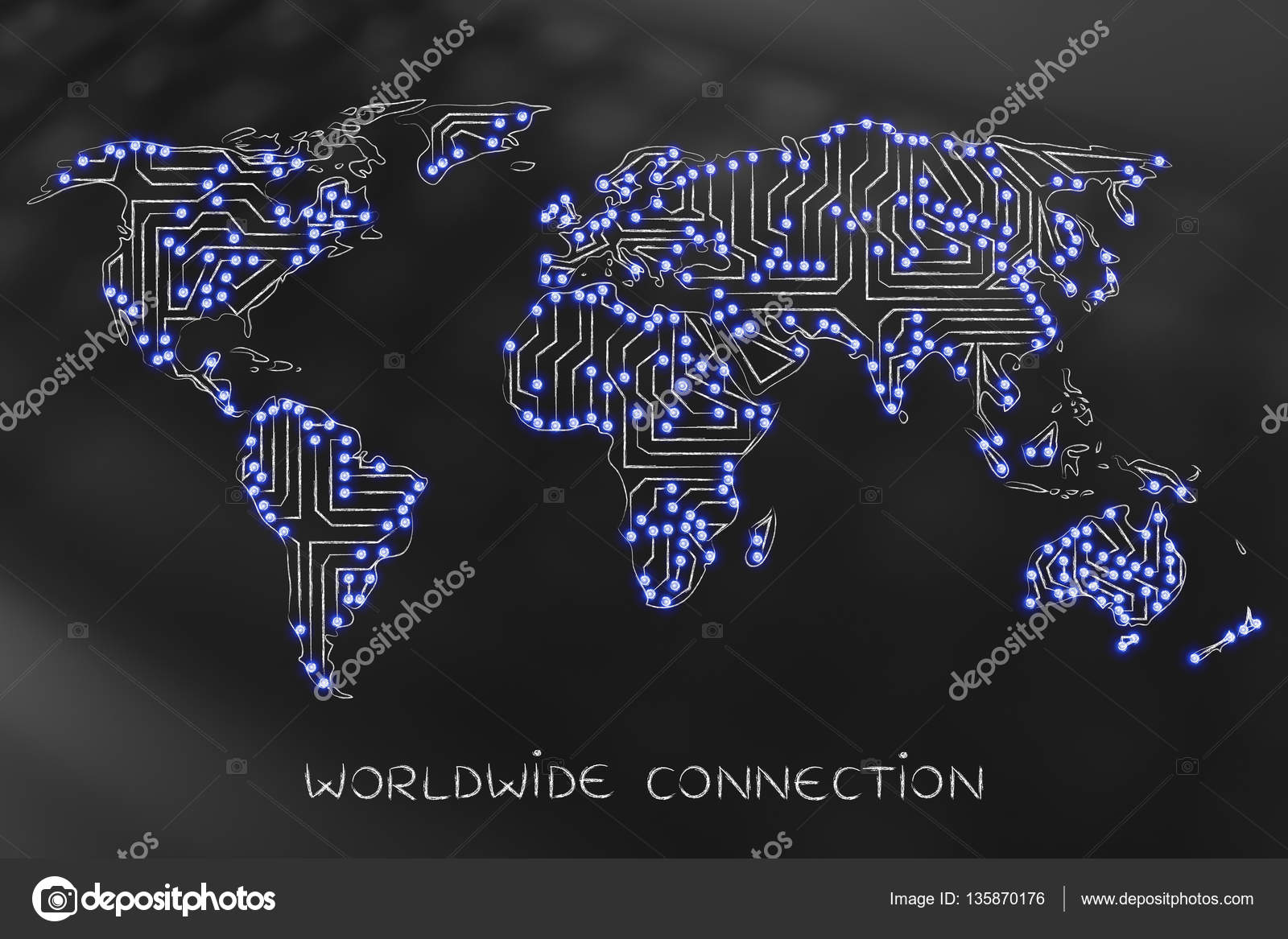 World map made of electronic microchip circuits led lights vers concept of global communications and connectivity world map made of electronic microchip circuits and led lights photo by faithie gumiabroncs Image collections