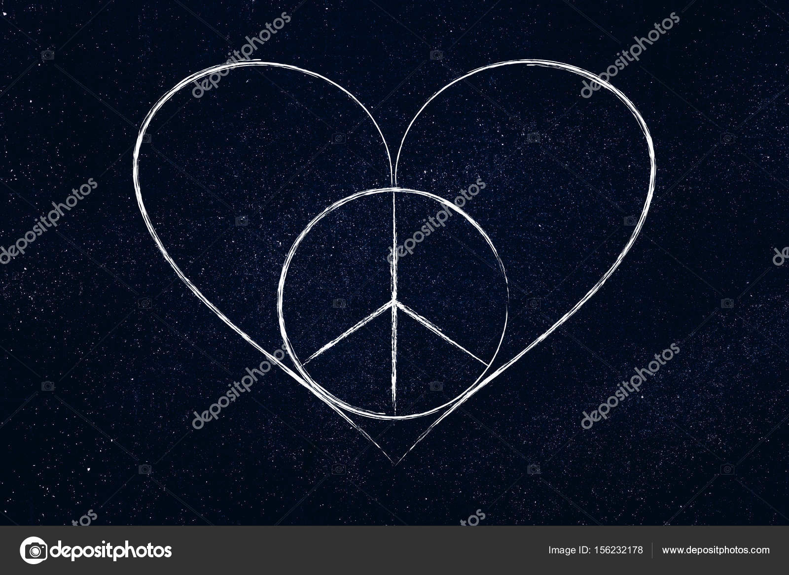 Peace And Love Heart Symbol Stock Photo Faithie 156232178