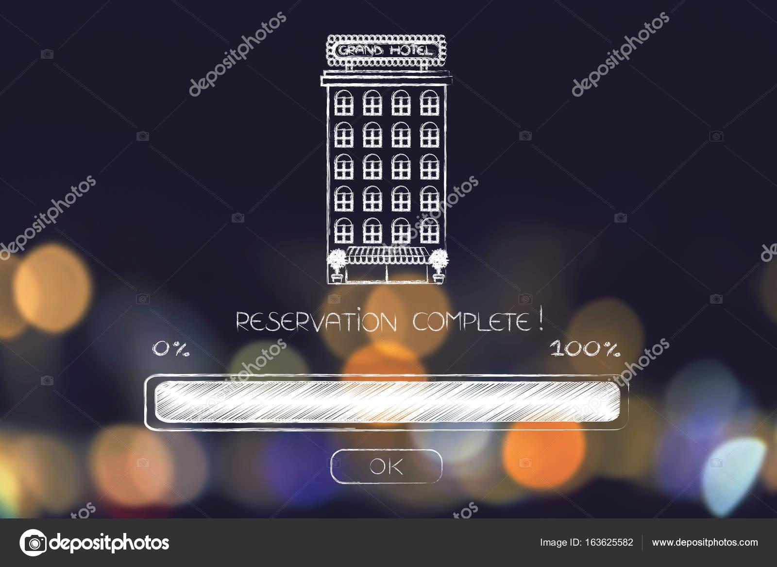 reservas completan hotel con barra de progreso cargada — Foto de ...