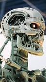 osaka, japan - 13. nov 2019: foto des t-800 end skeletts vom terminator 3d, einer der berühmtesten attraktionen in den universellen studios japan, osaka, japan.