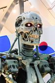 osaka, japan - 20. Januar 2020: Foto des T-800 Endoskeletts vom Terminator 3d, Terminator 6 dunkles Schicksal