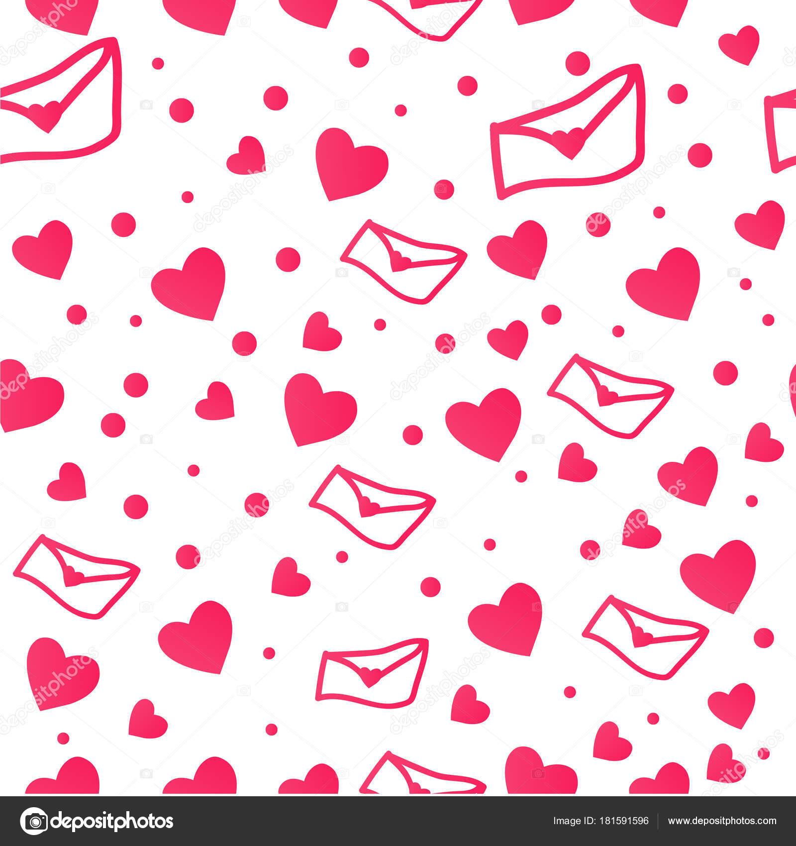 Heart Shape Vector Pink Confetti Splash White Heart Frame — Stock ...