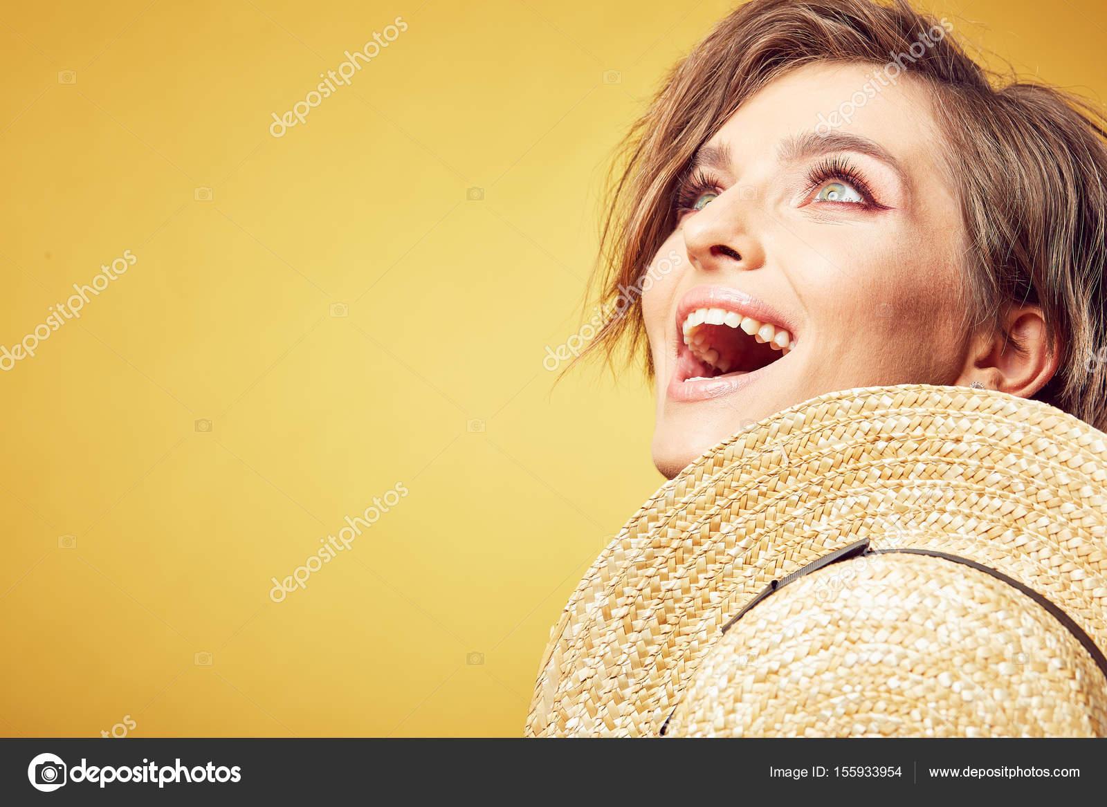 Sehr glückliches Gesicht
