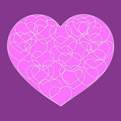 Fotografie Romantische Valentinstag-Karte mit großen rosa süßes Herz