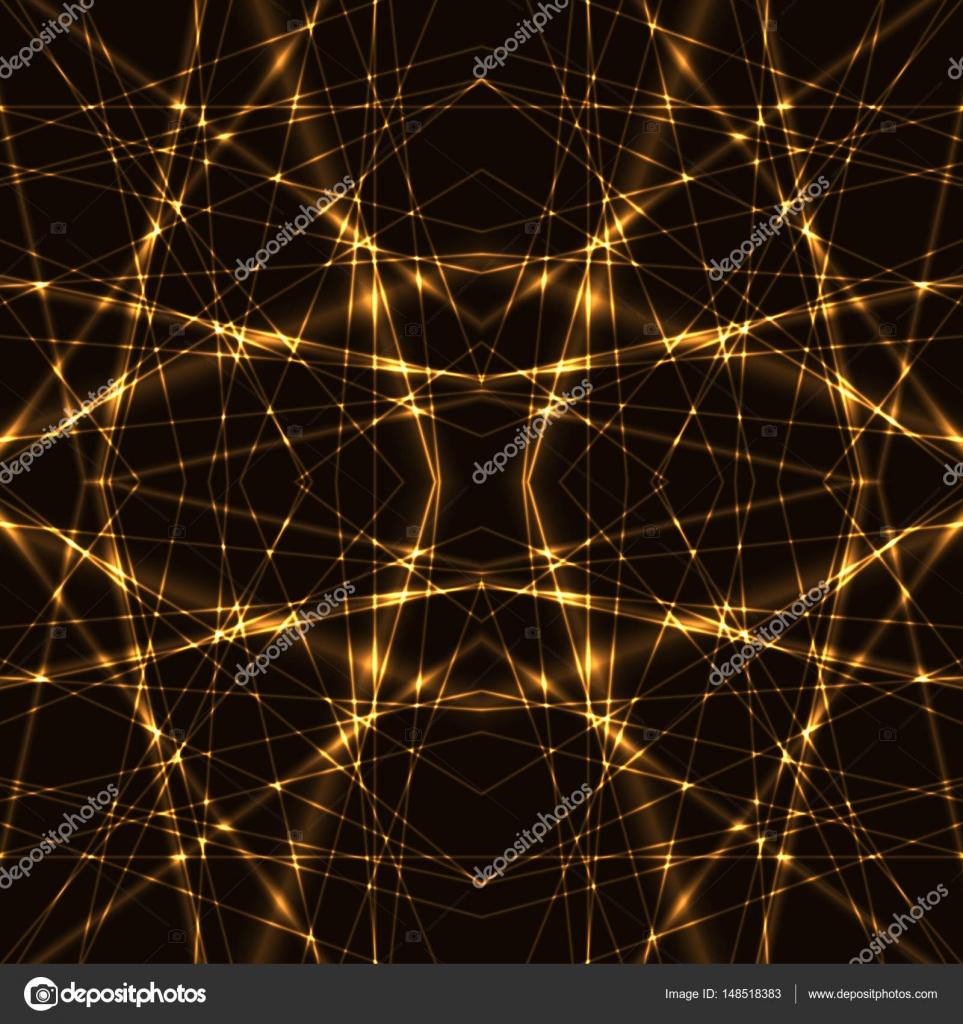 lighting beams. Seamless Pattern - Golden Lighting Beams Of Laser \u2014 Stock Vector S