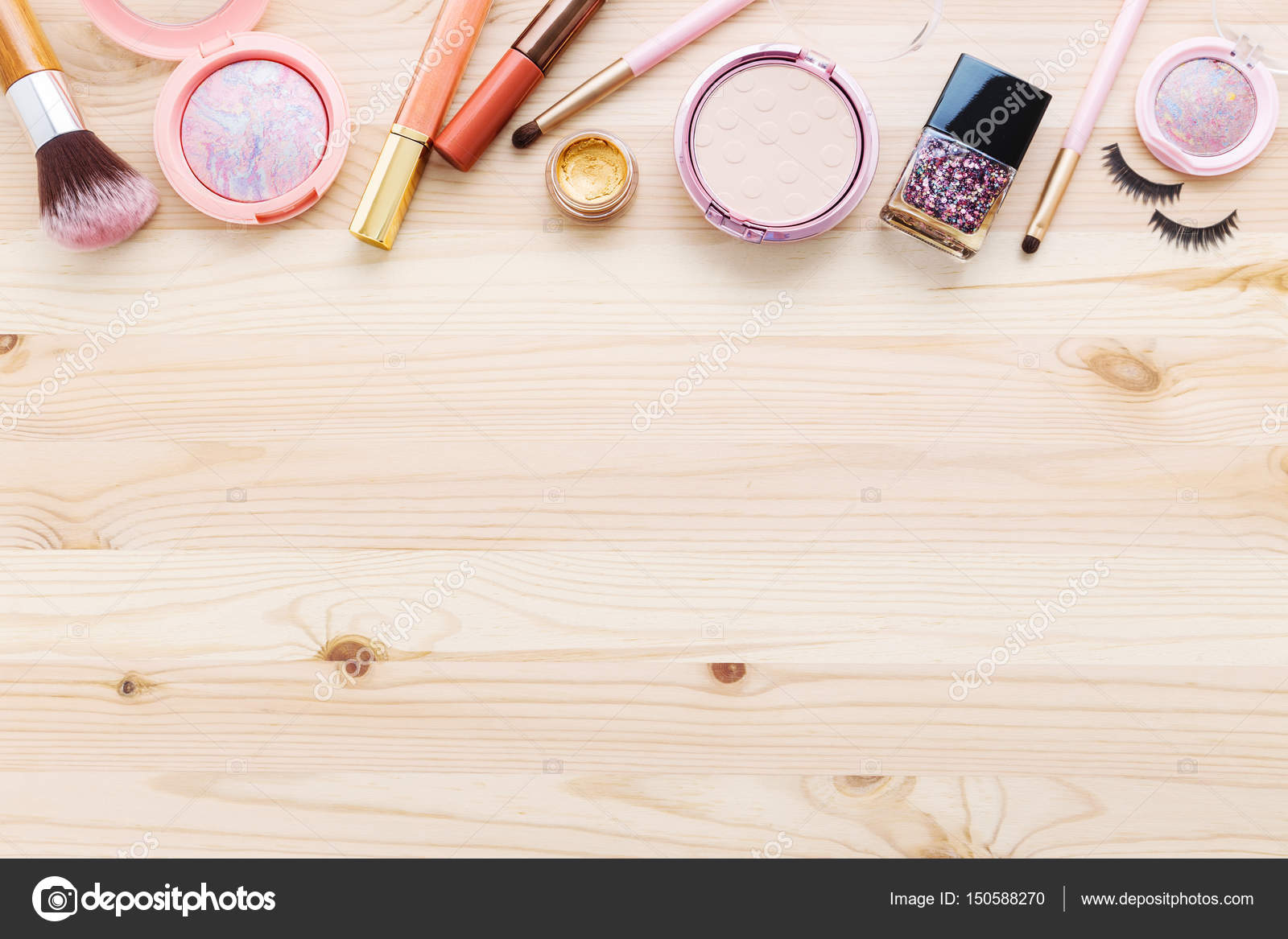 Cosmetic and makeup background– stock image