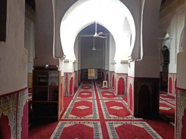 Inside of an old mosque in the oasis of Figuig in Morooco