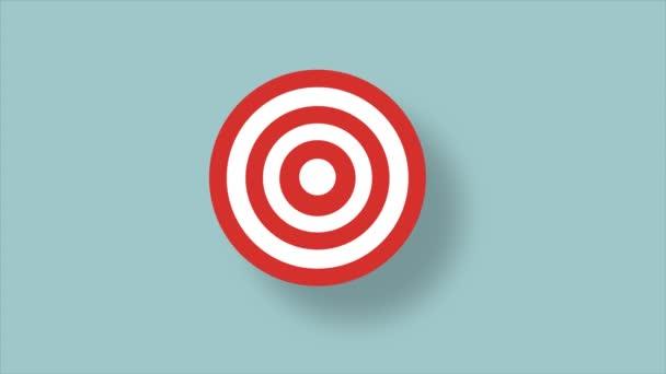 Nyíl üti a cél középpontjában - siker üzleti koncepció.