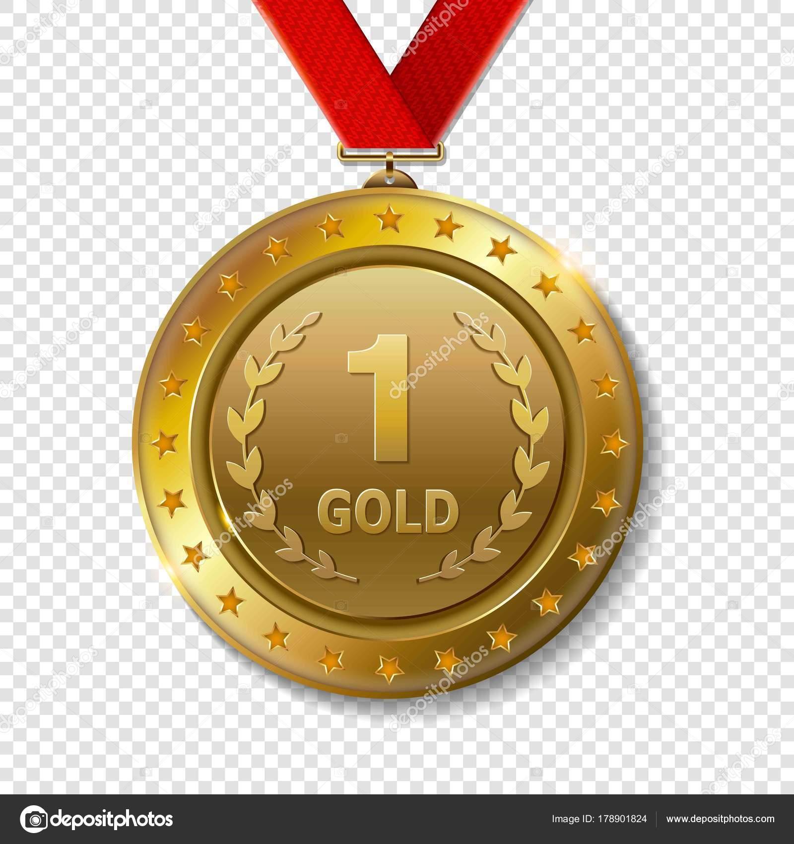 Wonderful Medaglia Premio Trofeo Du0027oro U2014 Vettoriale Stock