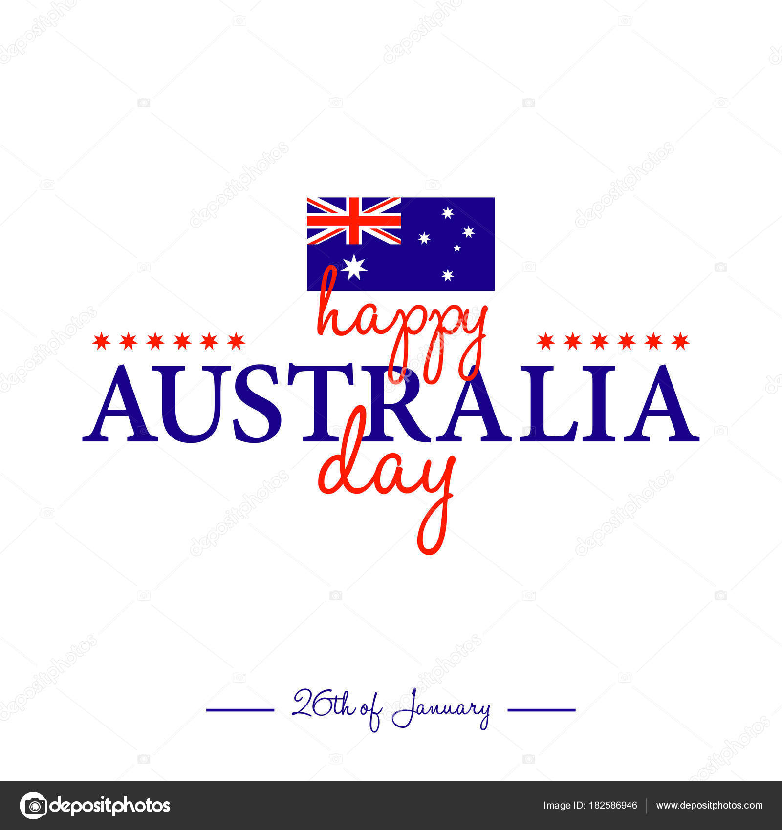 Happy australia day greeting card australian flag colors vector happy australia day greeting card australian flag colors vector illustration stock vector m4hsunfo