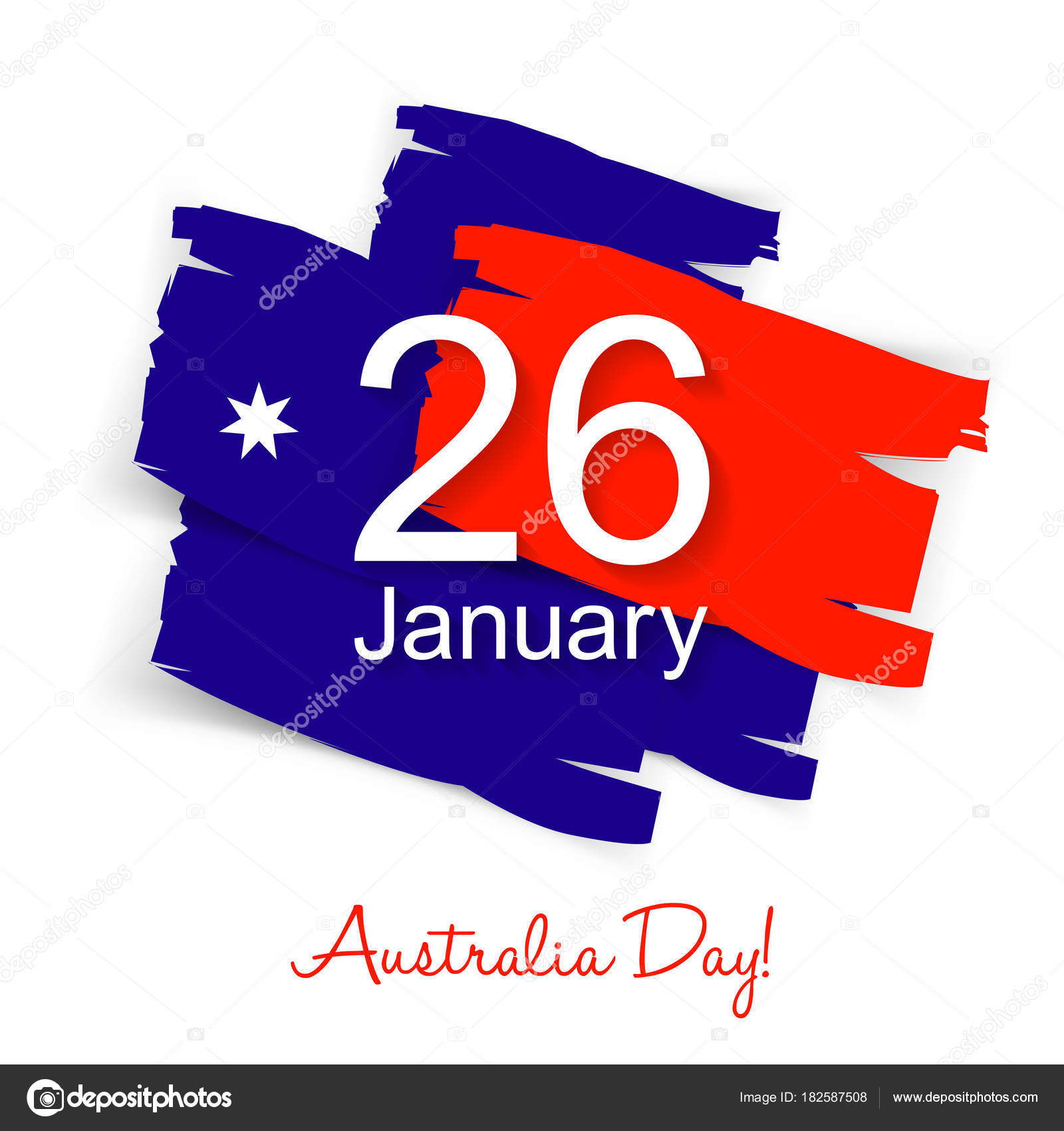 Happy Australia Day Greeting Card Australian Flag Colors Vector