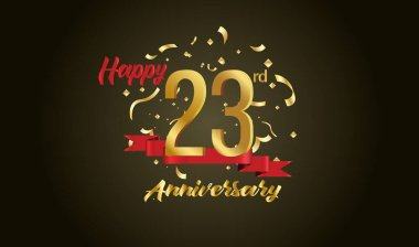 Anniversary celebration background. with the 23rd number in gold and with the words golden anniversary celebration.