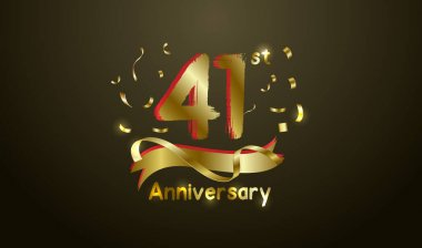 Anniversary celebration background. with the 41st number in gold and with the words golden anniversary celebration.