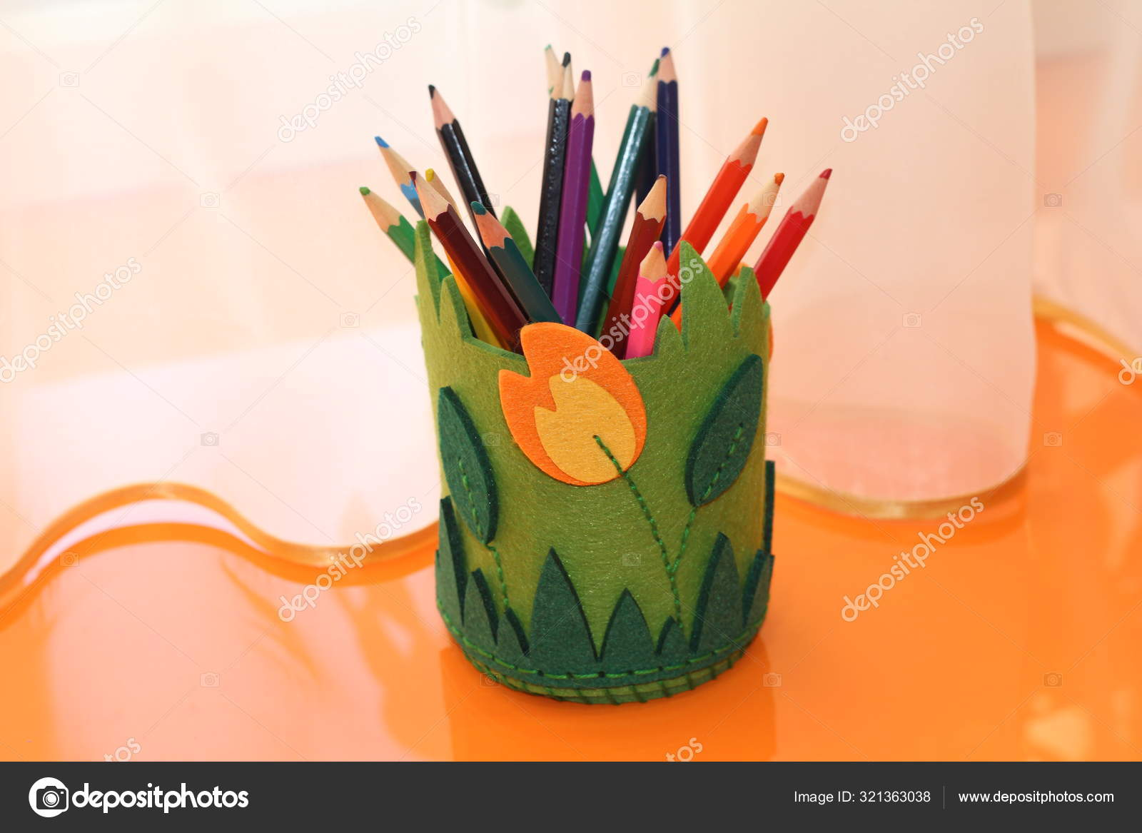 https depositphotos com 321363038 stock photo pencil holder made of felt html