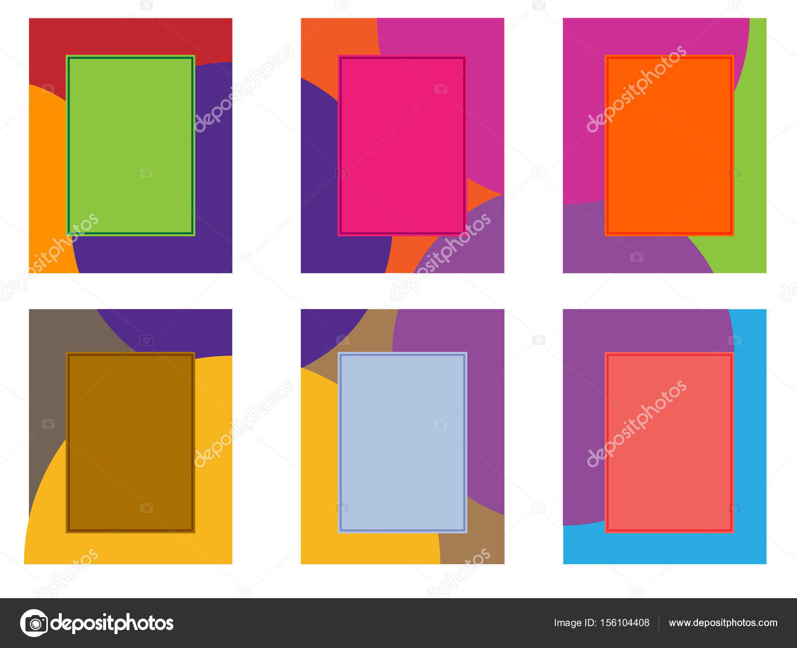 Six colored frames on a white background — Stock Vector © mutant59 ...