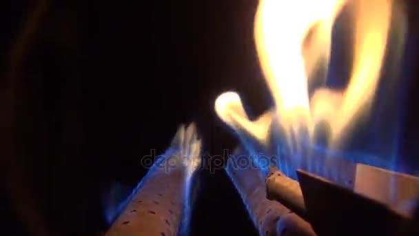 Brennende Flamme Eines Gasbrenners Einem Heizkessel Qualität ...