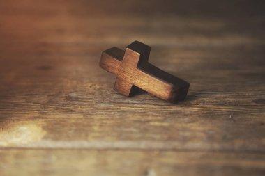 cross on table