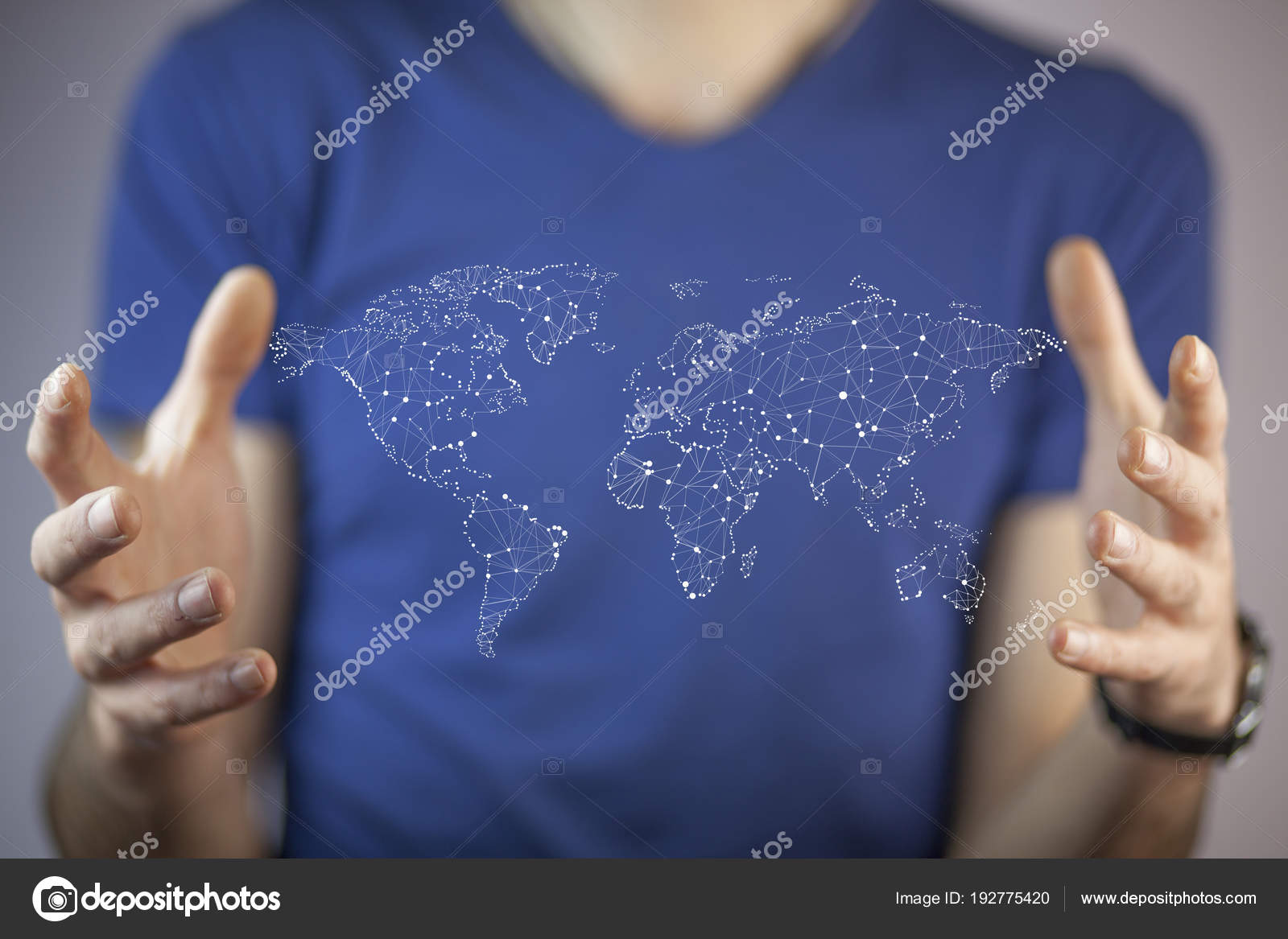 World Map On Hands.Businessman Holding World Map Hands Stock Photo C Tiko0305 192775420