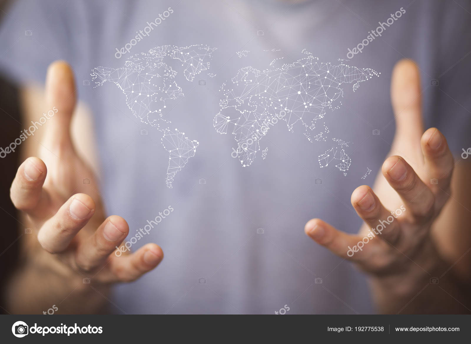 World Map On Hands.Businessman Holding World Map Hands Stock Photo C Tiko0305 192775538