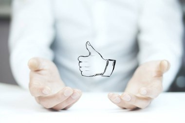 Man with  thumb up icon