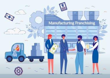 Manufacturing Franchising, Men Shaking Hands.