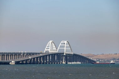 Crimean bridge. Crimea. The view from the side.