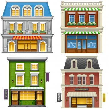 High detailed illustration of buildings