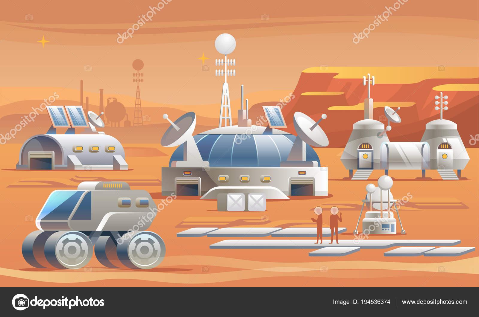 火星に人間の基地と火星を植民地...