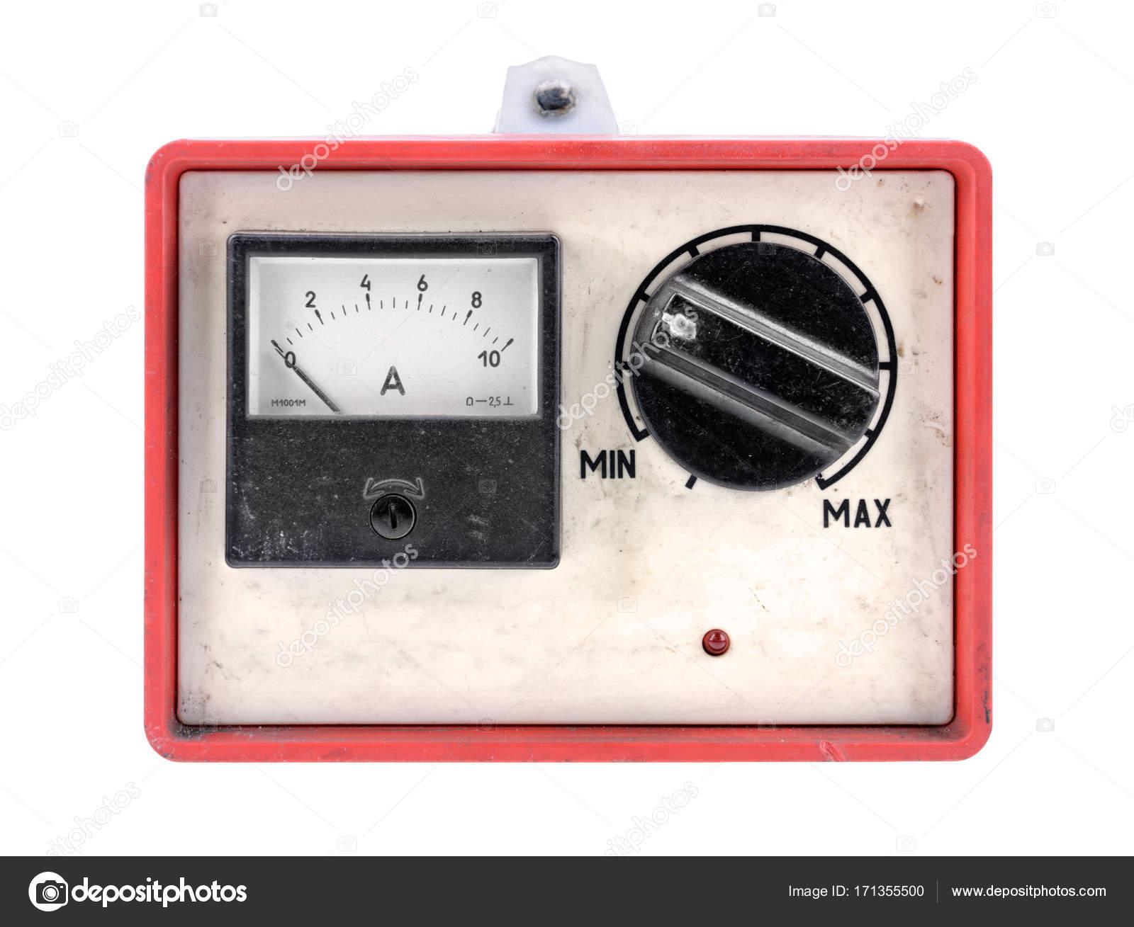 Alte Kfz Batterie Ladegerat Stockfoto C Gilotyna 171355500