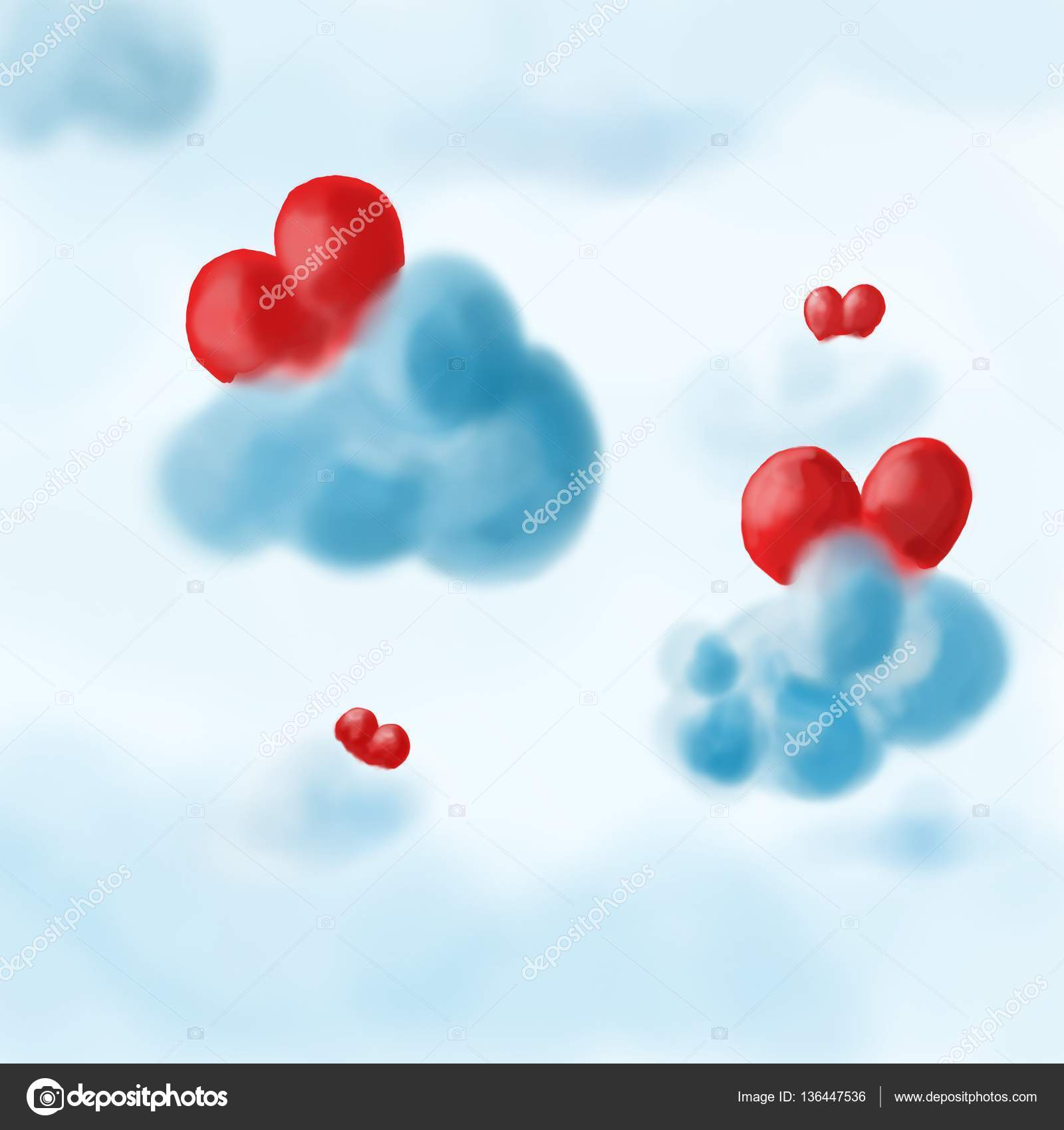 heart in clouds — stock photo © malycka #136447536