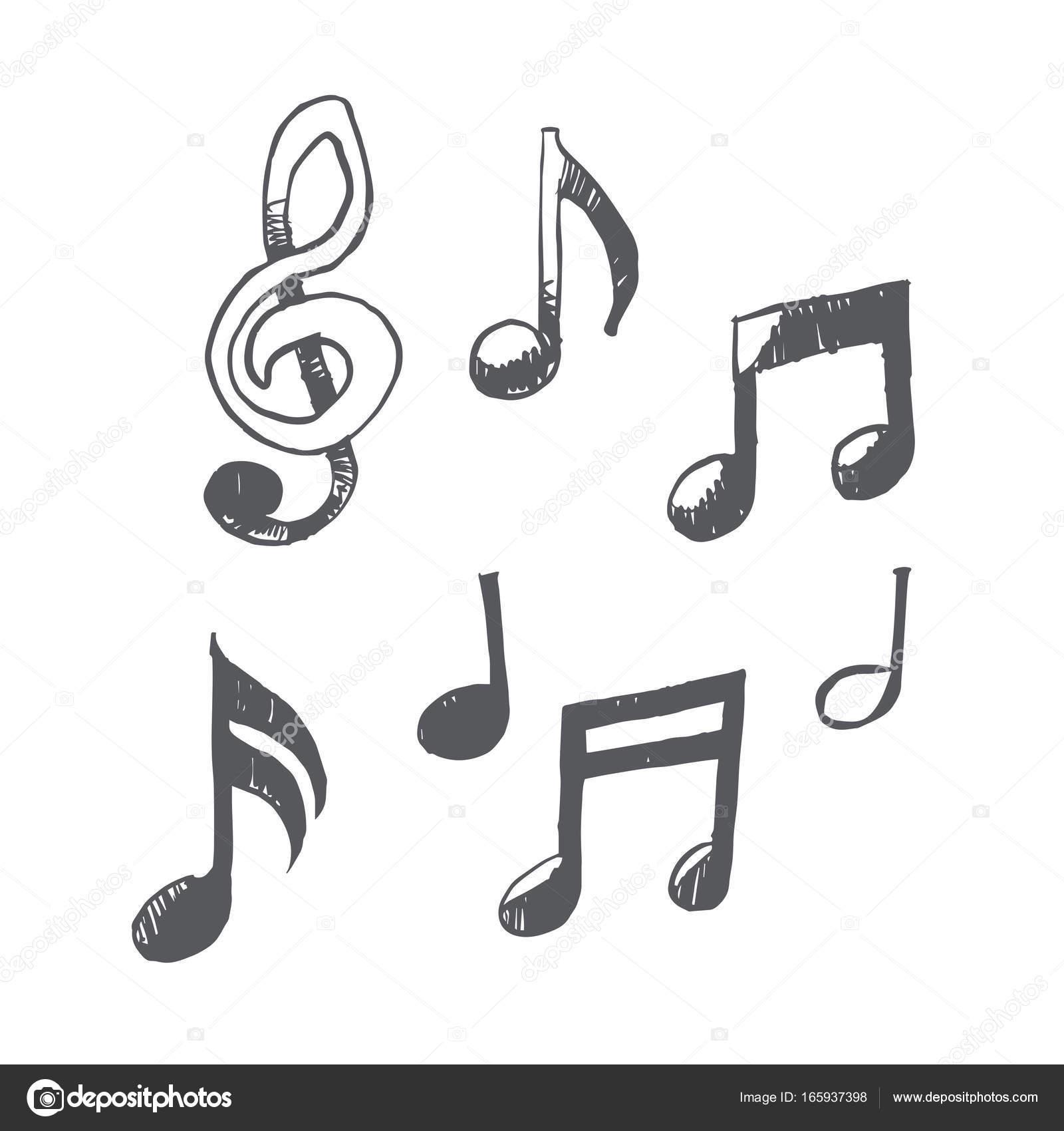 Fotos Todas Las Notas Musicales Notas Musicales Dibujadas