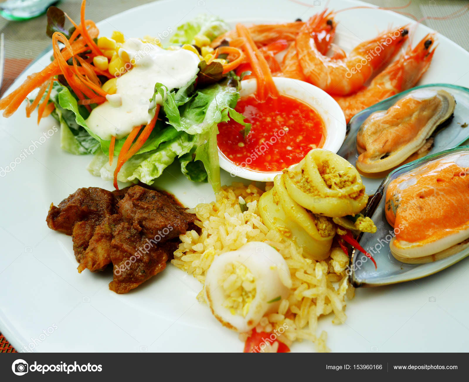 Surprising Food Buffet Service In Restaurant At Thailand Stock Photo Download Free Architecture Designs Grimeyleaguecom