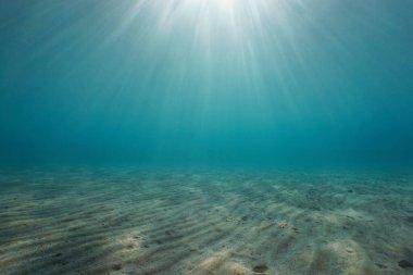 Sand underwater with sunlight natural scene