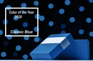 Classic Blue color of the Year 2020. Trendy color palette.