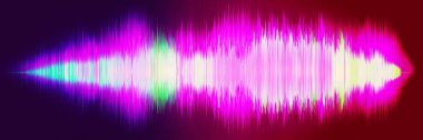 Sound wave , wave frequencies, light abstract background,Bright,equalizer. Sound waves oscillating. 3d illustration