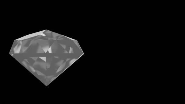Video rotujícího zářícího diamantu