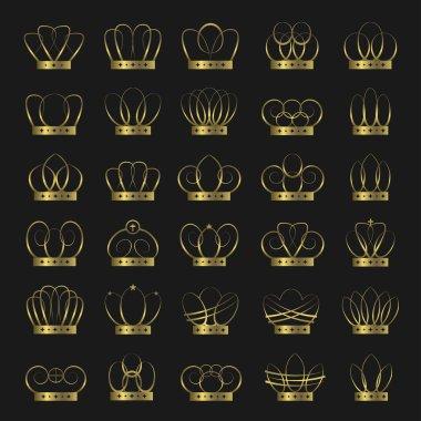 Golden crown set