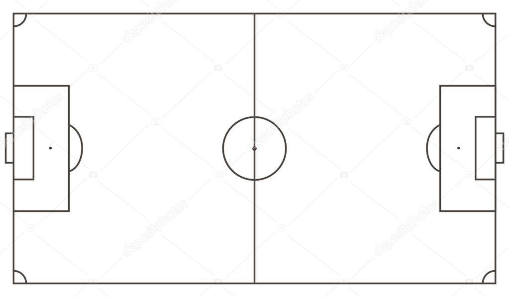 sch u00e9ma de champ de football  u2014 image vectorielle